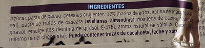Turron de chocolate negro crujiente - Ingredienti - es