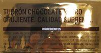 Turrón de chocolate negro crujiente - Nutrition facts