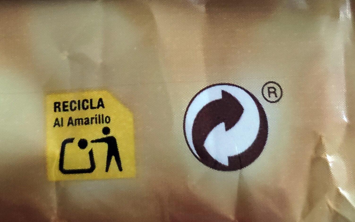 Turron de chocolate negro crujiente - Istruzioni per il riciclaggio e/o informazioni sull'imballaggio - es