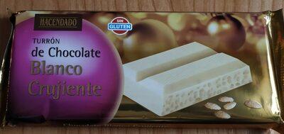 Turrón de chocolate blanco crujiente