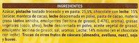 Turròn Pistacho - Ingredients