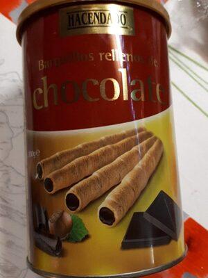 Barquillos rellenos de chocolate - Product - es