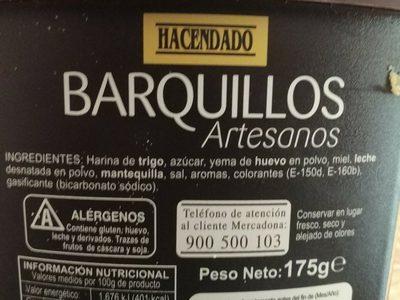 Tubitos - Ingredients - es