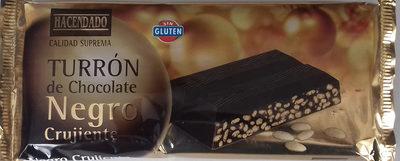 Turrón de chocolate negro crujiente - Produit - es