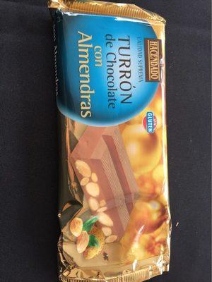 Turron de chocolate con almendras - Producto