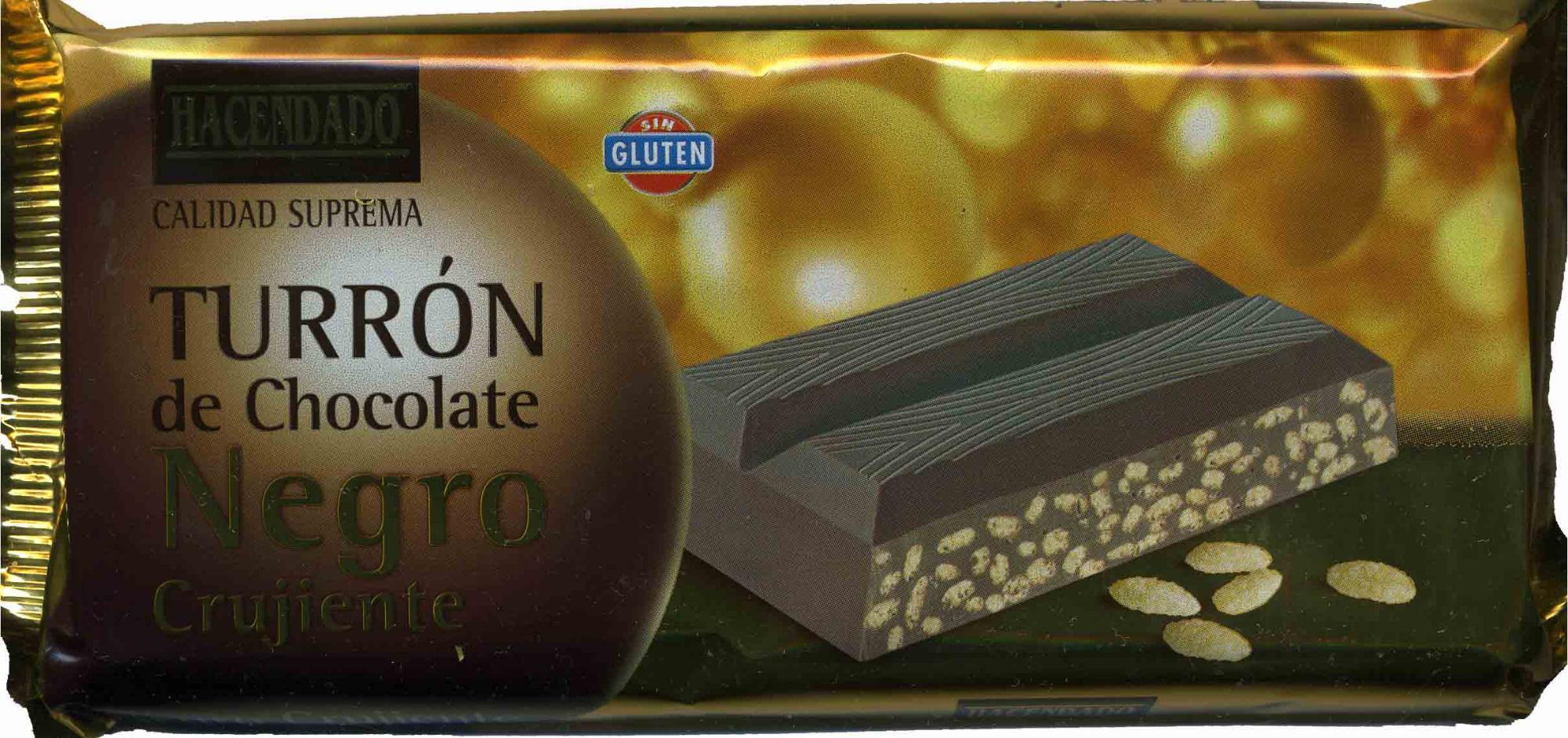 Turrón de chocolate negro crujiente - Producto