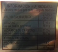 Turrón de chocolate negro crujiente - Información nutricional
