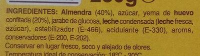Turron de yema tostada - Ingredientes - es