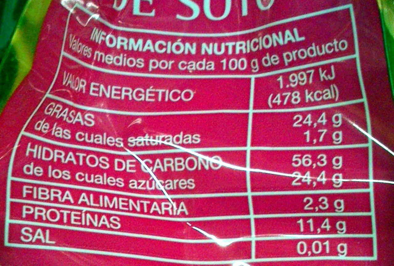 Mazapán de Soto - Informations nutritionnelles