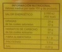 Turrón de coco - Información nutricional - es