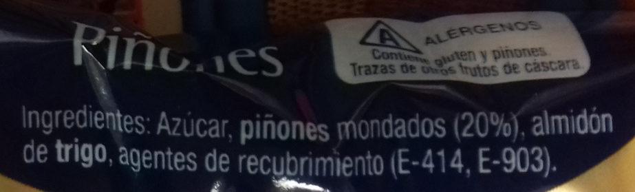 Piñones - Ingrédients - es