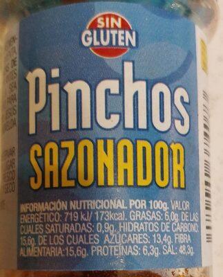 Sazonador pinchos - Informació nutricional - es
