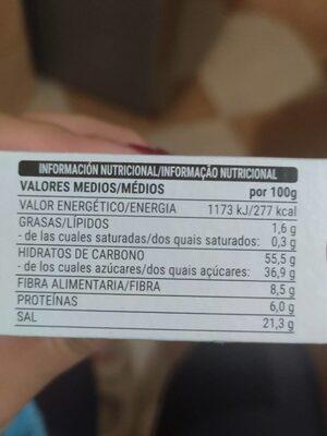 Sazonador Para Hornear Sabor Barbacoa - Informação nutricional - es
