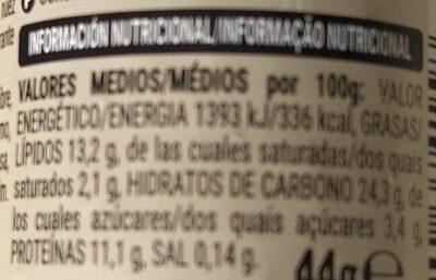 Mix Ras El Hanout - Información nutricional - fr
