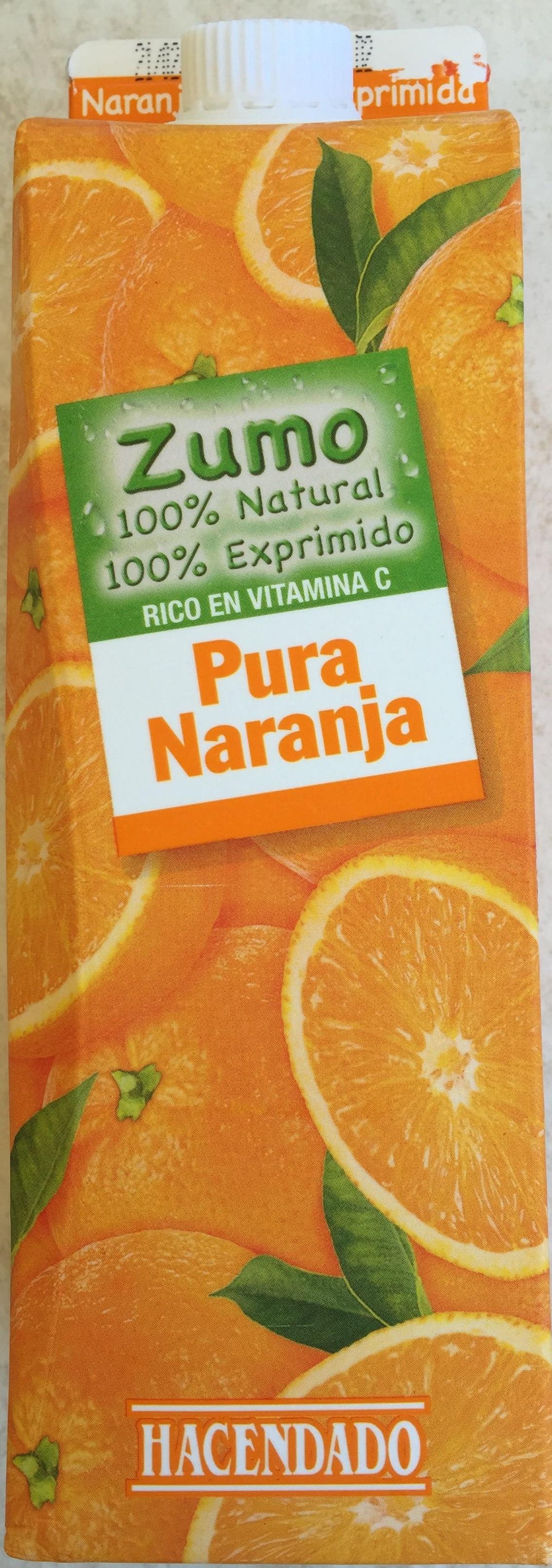 Zumo de naranja 100% exprimido - Producto - es