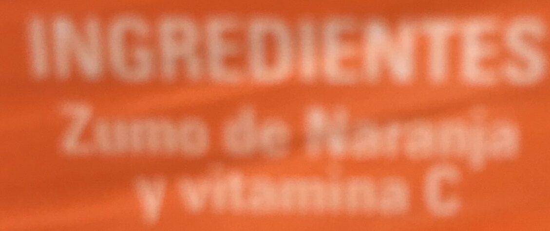 Zumo 100% Natural 100% Exprimido - Ingredientes