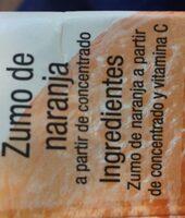 Zumo naranja - Ingredientes - es