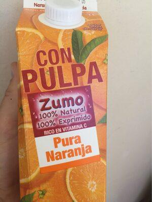 Zumo pura naranja con pulpa