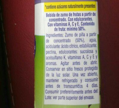 Zumo de piña - Inhaltsstoffe