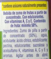 Zumo de Piña - Ingredientes