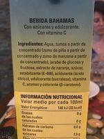 Bahamas - Ingredientes