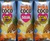 """Bebida de zumo y soja """"Hacendado"""" Piña y coco. Pack de 3 - Producte"""