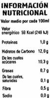 Piña coco soja - Información nutricional - es
