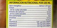 Jus d'ananas - Valori nutrizionali - es