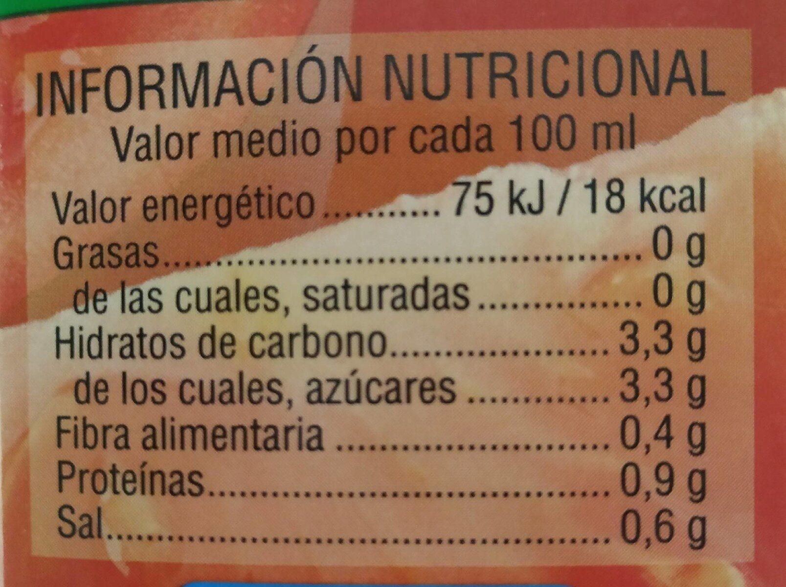 Zumo de Tomate - Informations nutritionnelles
