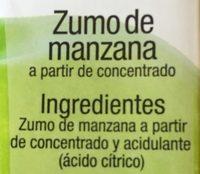 Zumo de Manzana - Ingredientes