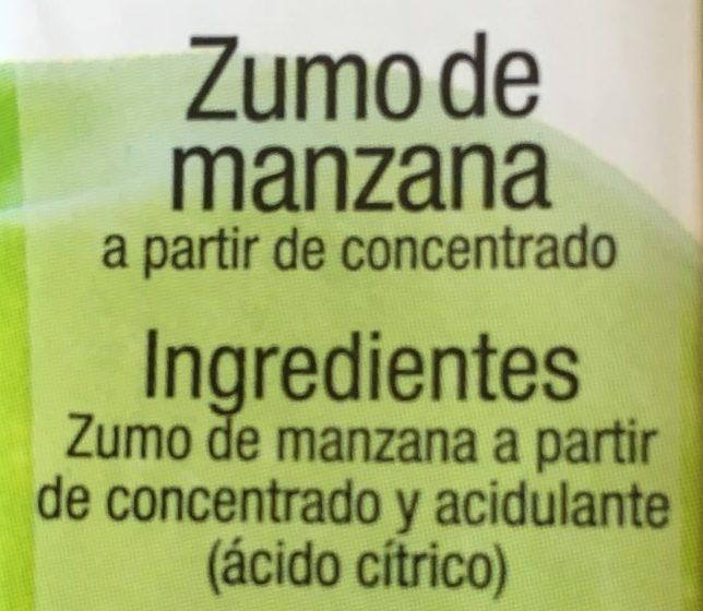 Zumo de manzana - Ingredients - es