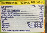 Tropical - Informations nutritionnelles