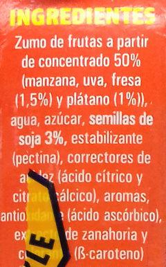 Bebida de soja fresa platano - Ingredientes - es