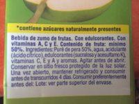 Zumo de pera - Ingredientes