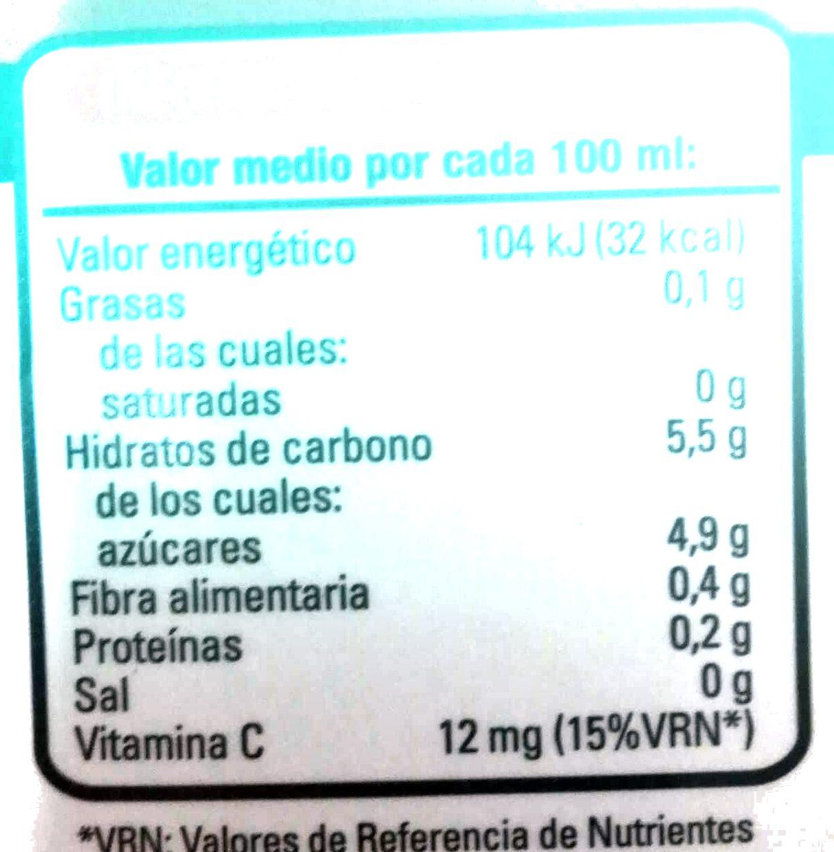 Anti oxidante - Informació nutricional