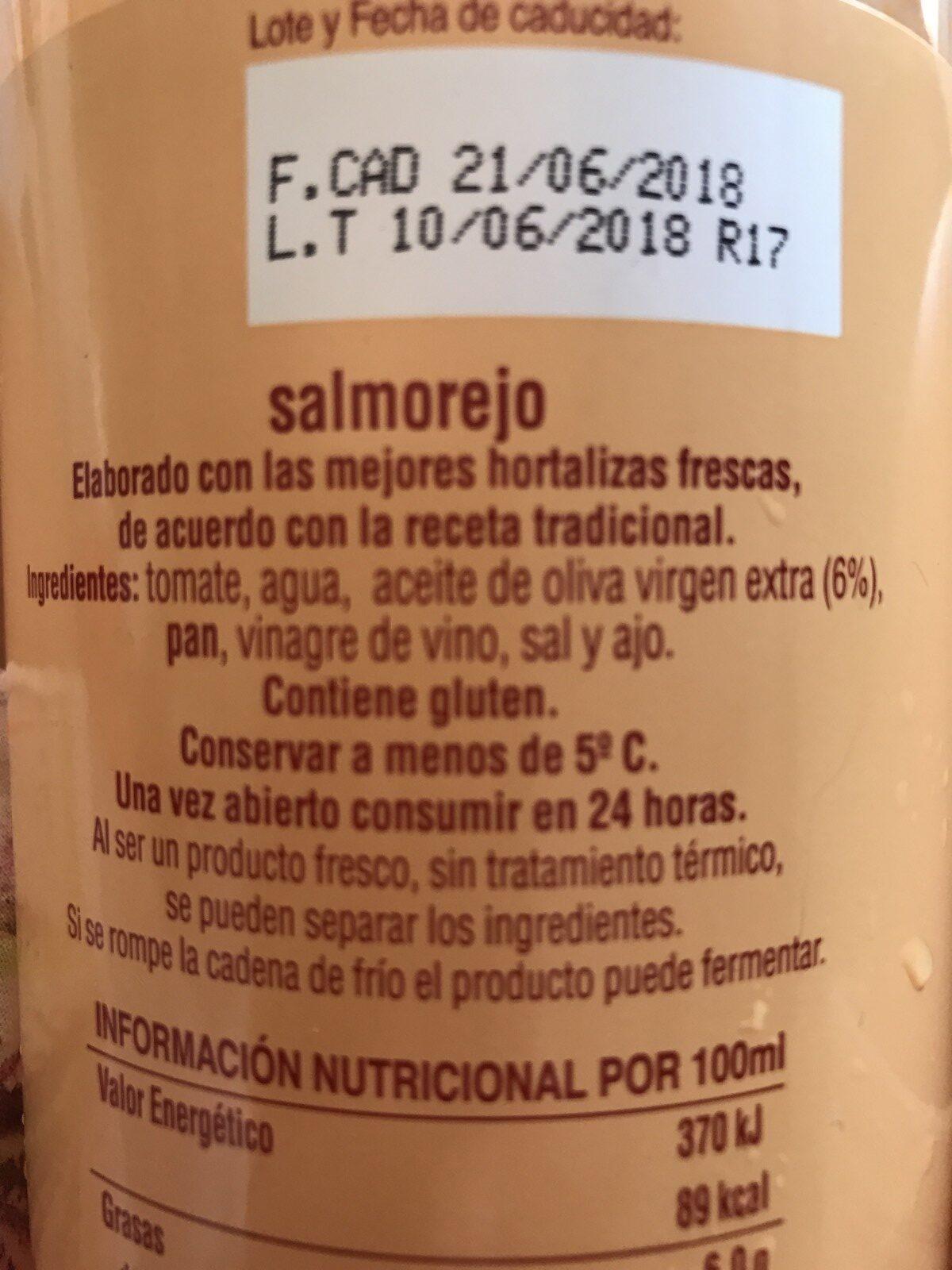 Salmorejo fresco - Ingrediënten