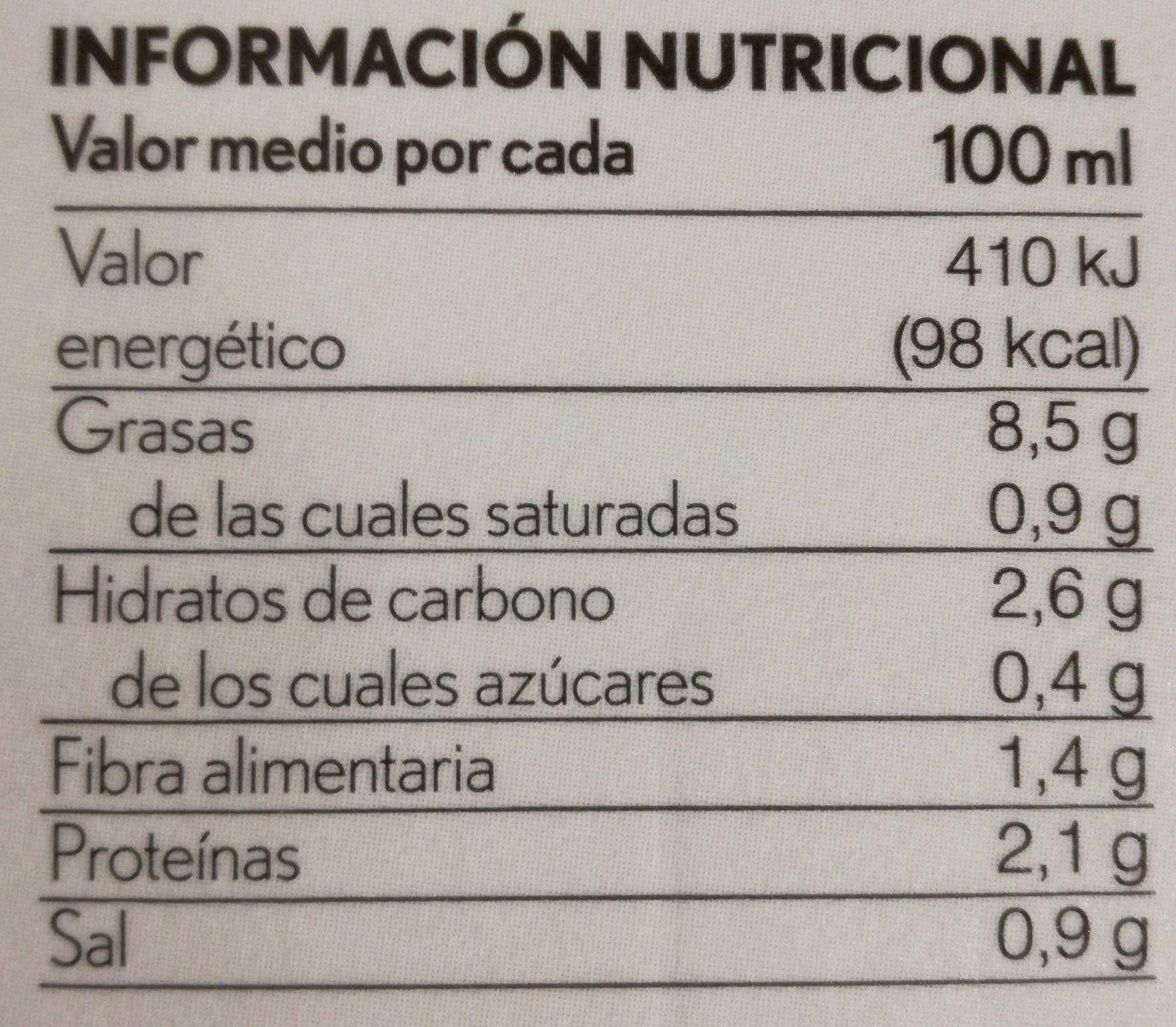 Gazpacho blanco de almendras - Información nutricional - es