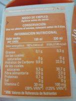 Zumo De Naranja - Ingrediënten