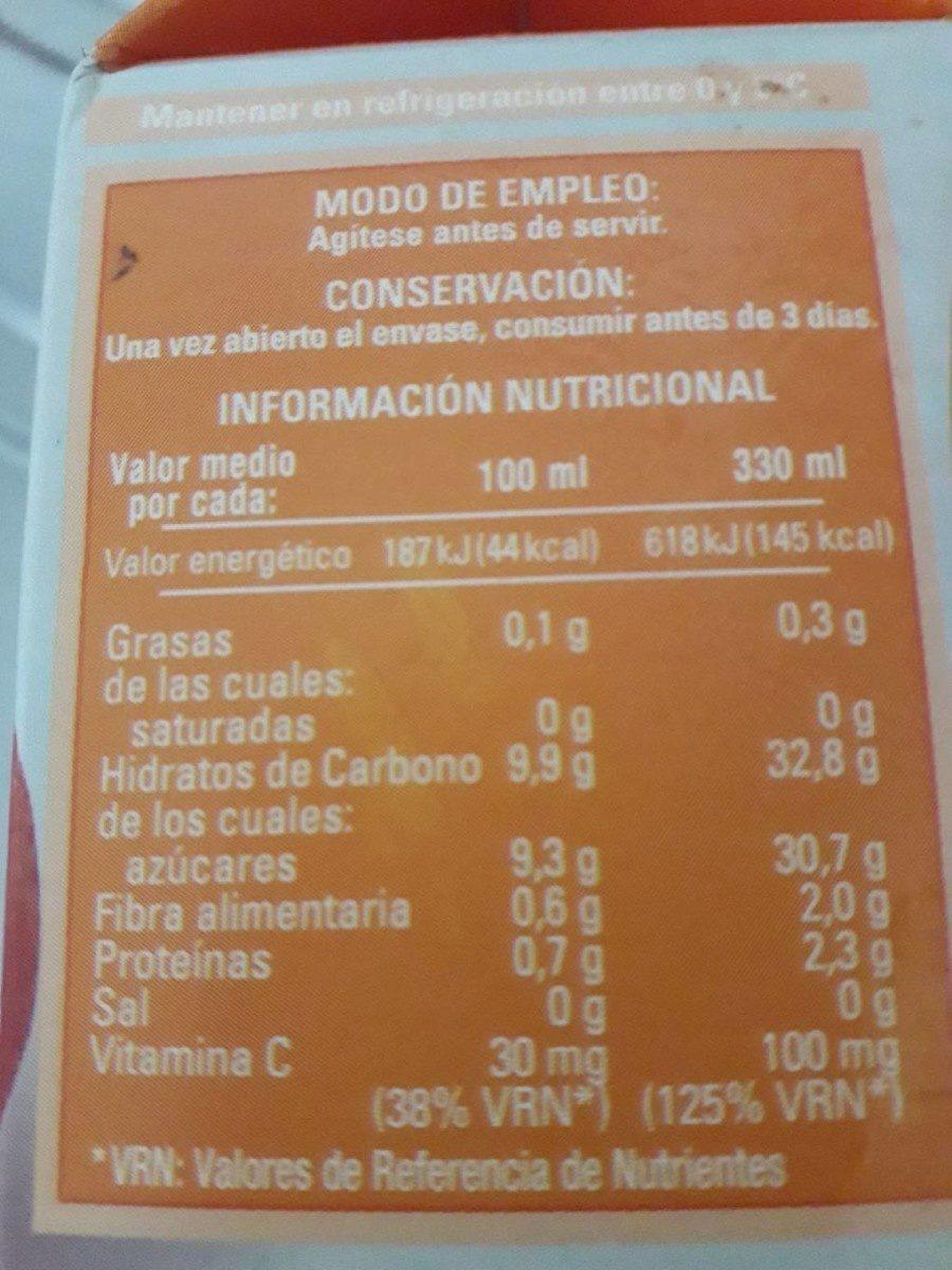 Zumo De Naranja - Voedigswaarden