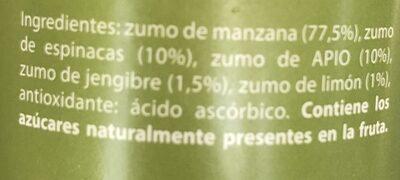 Fruityline con jengibre - Ingredients
