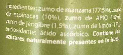 Fruityline con jengibre - Ingredientes