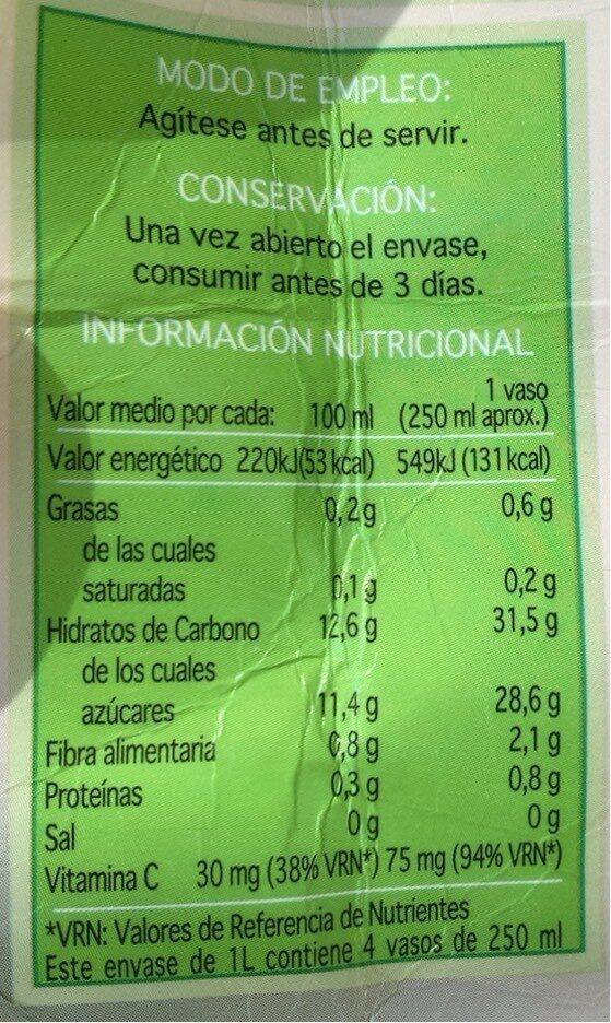 Zumo De Manzana - Nutrition facts - es