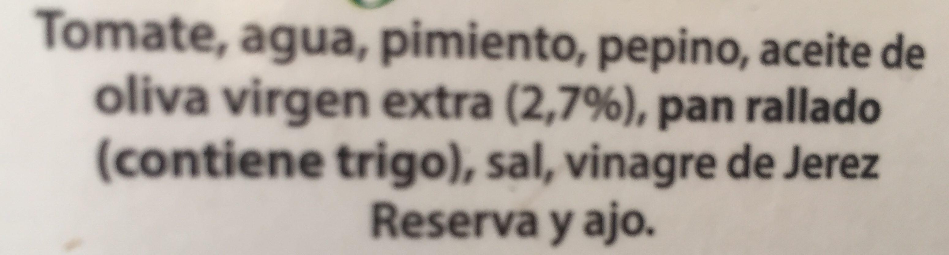 Gazpacho Andaluz - Ingredients