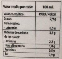 Gazpacho Andaluz - Información nutricional - es