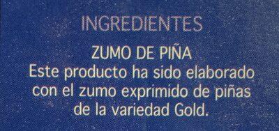 Zumo de piña - Ingredients