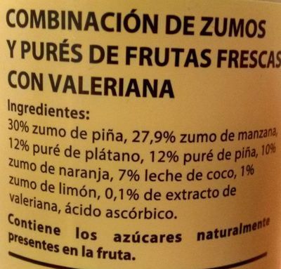 Con Valeriana - Ingredients
