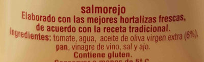 Salmorejo fresco - Ingredientes - es