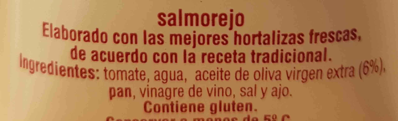 Salmorejo fresco - Ingredientes