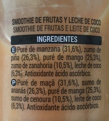 Smoothie Mango et Coco - Ingredients