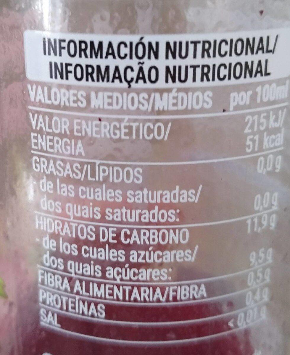 SMOOTHE DRAGÓN FRUIT - Informació nutricional - es